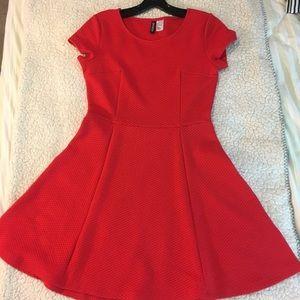 Red H&M skater dress